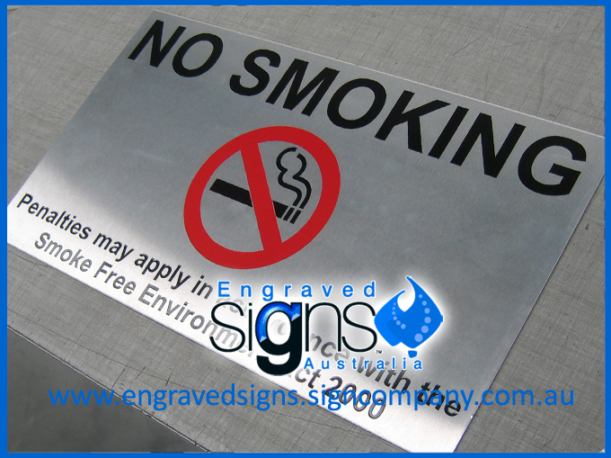 Anti Vandal No Smoking Sign