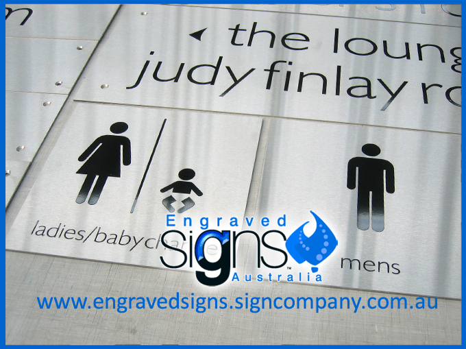 Ladies / Babychange and Mens special door sign used above doorway. Not Tactile but used above door or corridor