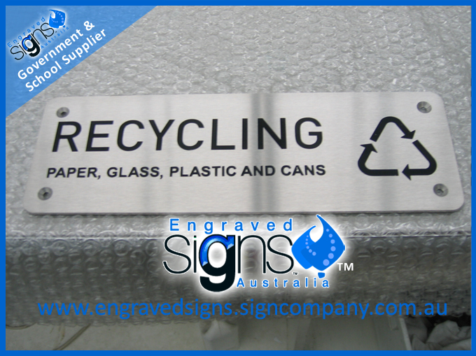 Facility Signage - Recycling sign